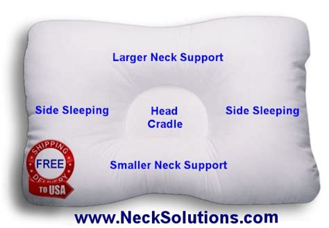 Neck Support Pillows For Side Sleepers by D Neck Support Pillow