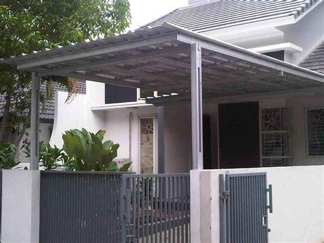 contoh kanopi baja ringan minimalis eksterior rumah