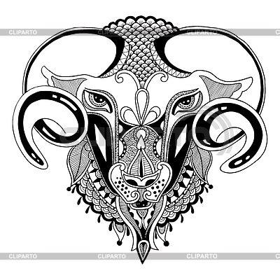 goat head coloring page ziege tattoo stock fotos und vektorgrafiken cliparto