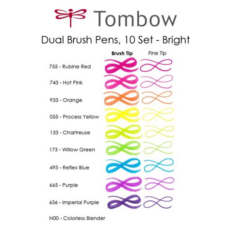 Home Plans Free by Dual Brush Pen Set 10 Bright
