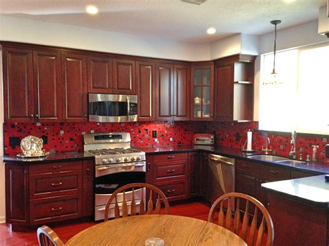 red kitchen backsplash mosaic tiles kitchen red www pixshark com images