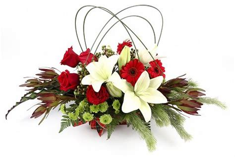 florist choice christmas table arrangement florist
