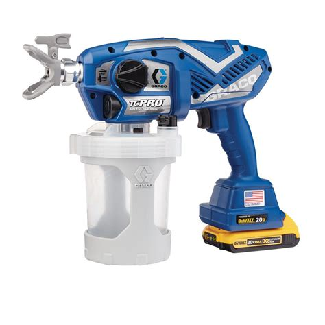 home depot paint sprayer rental cost canada graco tc pro cordless airless paint sprayer 17n166 the