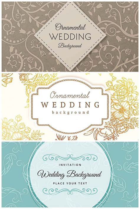 Wedding Background Collection by Ornamental Wedding Retro Design Background Collection