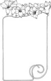 Dibujo de Marco con Flores para colorear | Dibujos para
