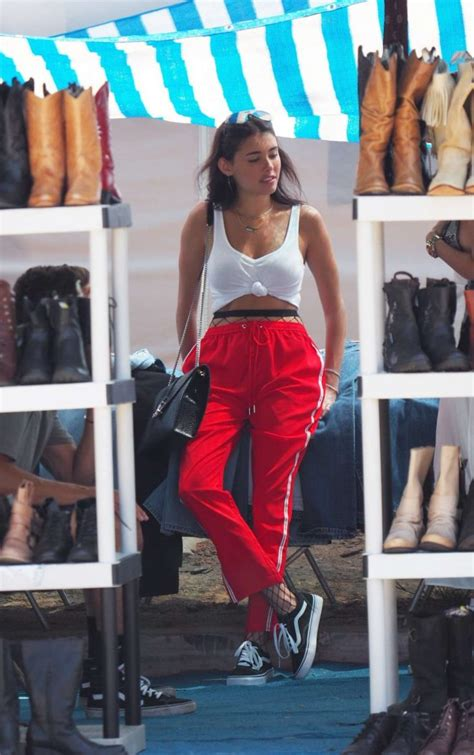 madison beer red madison beer in red pants out in hollywood