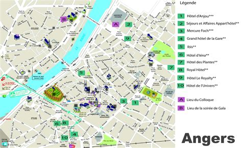 angers map angers hotel map
