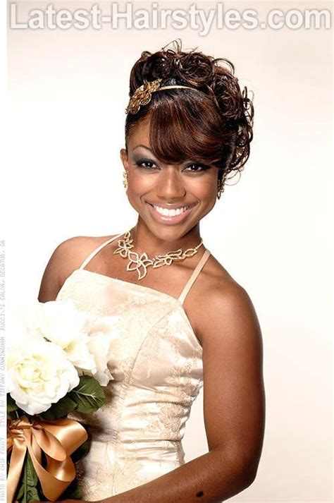 types of updo hairstyles with bangs african amer 470 best images about african american wedding hair on