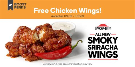 hands   pizza hut bone  wings  boost