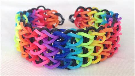 Como fazer pulseiras de elástico: Triple Single #LoomBands