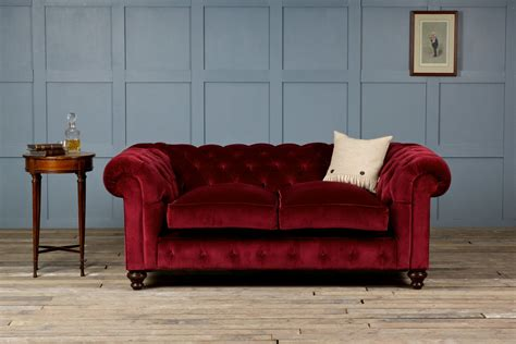 st george velvet fabric chesterfield sofa