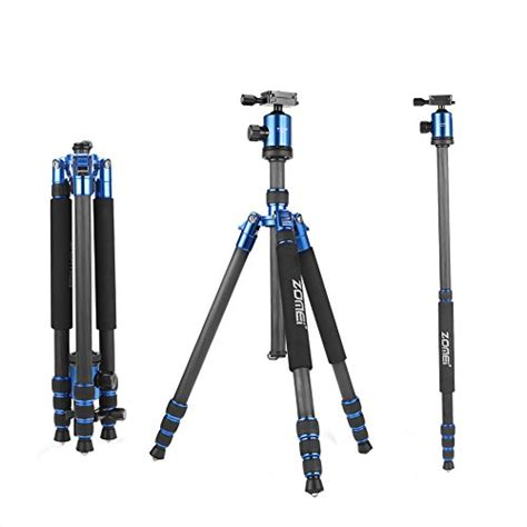 zomei z818c carbon fiber camera tripods for digital dslr