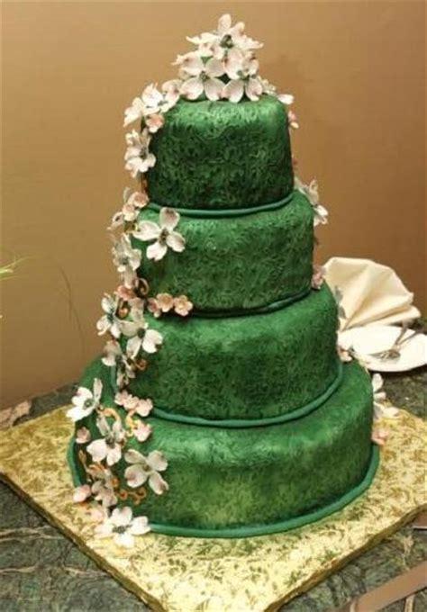 new year green cake green wedding cake angle2