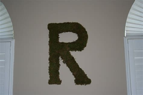 moss covered letters designs moss covered letter