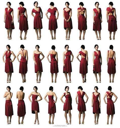 one hairstyle woren different ways robe multiposition infinity dress la rose noire