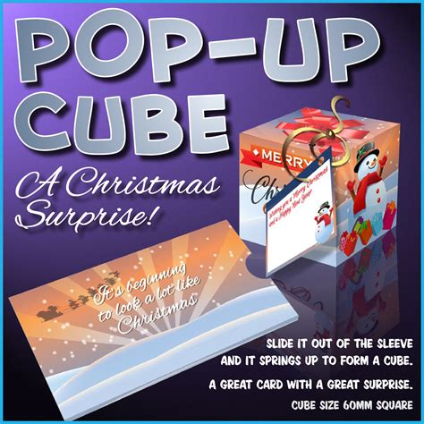 pop up cube card template techniques snowman pop up cube cup490187 1532 craftsuprint
