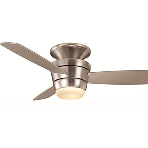 flush mount ceiling fan with light kit and remote harbor 44 in brushed nickel flush mount indoor