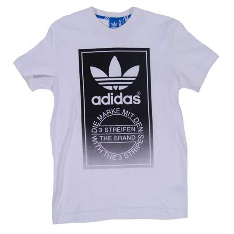Adidas Remera Originals Soccurf Tongue Label adidas originals tongue label fade t shirt white mens clothing from attic clothing uk