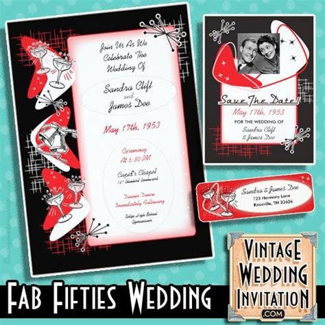 14 Best Images About Rockabilly Wedding Invitations On Pinterest American Graffiti 1950s Grease Invitation Template