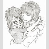 Kissing Couple Sketch   800 x 915 png 955kB