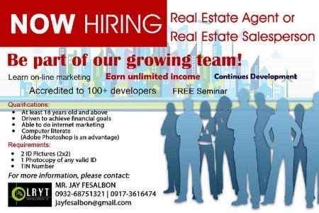 hiring a real estate agent to sell your house hiring salesperson as part time full time real estate agent real estate jobs metro