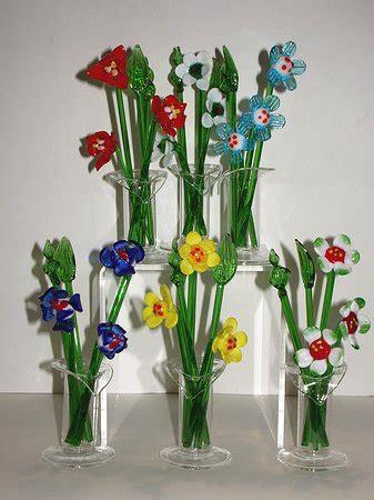 fiori di vetro fiori di vetro di colori assortiti 12 cm venturini