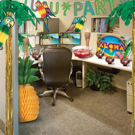 theme decorations office turn your office into a luau paradise partycheap