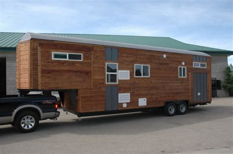 34 Gooseneck Tiny House With 3 Slide Outs Sold For 66k Gooseneck Tiny House