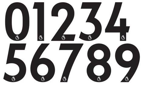 typography kit all new 2017 18 premier league kit numbers font revealed footy headlines