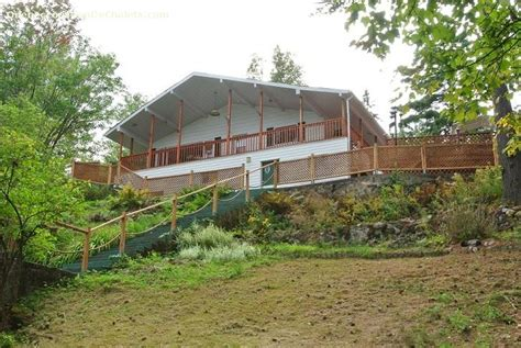 White Cottage Rental by Cottage Rental Qu 233 Bec Outaouais Bouchette White Cottage Id 8772