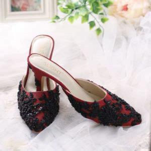 Sepatu High Heels Pesta Selop Biru Merah Pink Hitam Suede 7cm Real Pic sepatu flat shoes wanita high heels terbaru slightshop