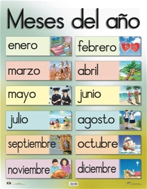 imagenes en ingles de los meses del año 7 best images about meses del a 241 o on pinterest spanish