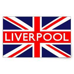 liverpool colors liverpool flag rectangular sticker zazzle