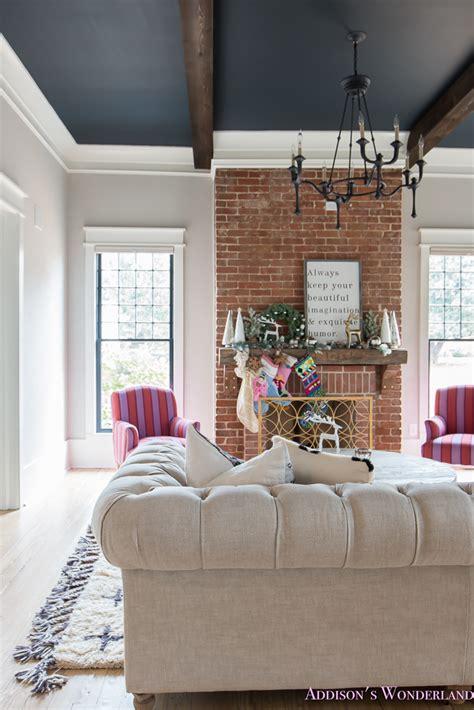 Black Vintage Living Room Furniture Vintage Living Room Black Ceiling Brick Fireplace