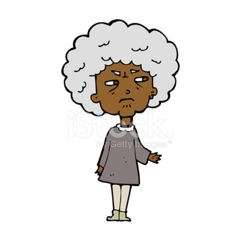 cartoon old lady stock vector freeimages.com