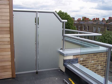 Glass Balcony with Privacy Screen   new house patio