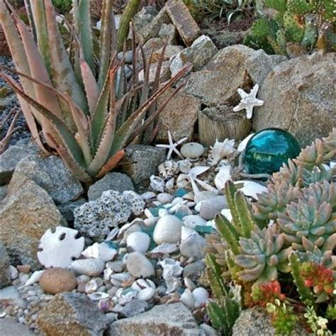 outdoor garden decor with seashells succulents pinterest gardens sea shells and san diego