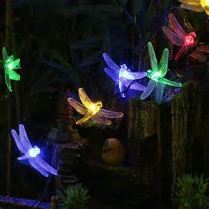 Solar Powered Patio String Lights Led String Lights Solar Powered Outdoor Patio Decorative Dragonfly Garden Yard Ebay
