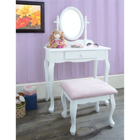 Vanity Children by Vanity With Stool White Walmart