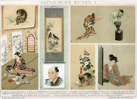 asiatische stehlen retro bib seite aus brockhaus konversationslexikon