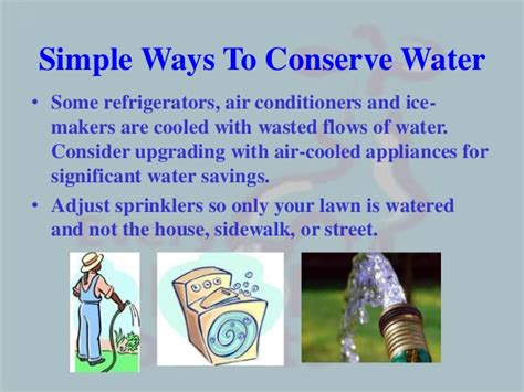 Way To Conserve Water Essay by Water Conservation Ppt