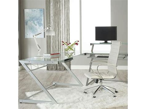 south hill design back office axel high back office chair in white design by euro style