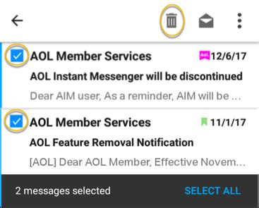 aol mail android settings aol mail in the aol app for android faq aol help