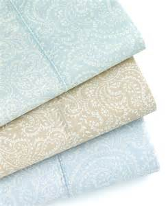 martha stewart ainsley paisley 400 tc cotton queen fitted sheet pale blue ebay