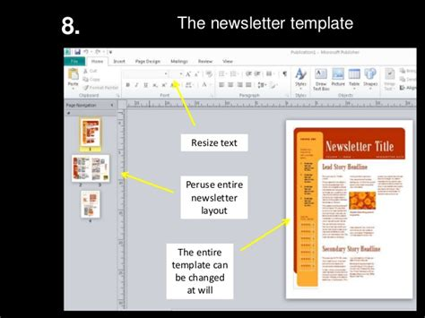 Ms Publisher How To Create A Newsletter Make A Newsletter Template