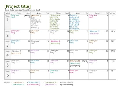 Project Planning Calendar Template project planning timeline