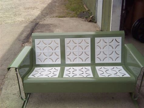 Vintage Patio Glider by Powdercoated Restored Vintage Metal Patio Gliders