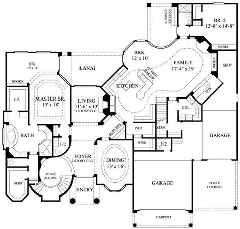 six bedroom floor plans 6344 square 6 bedrooms 6 189 batrooms 3 parking space on 2 levels house plan 14445 all