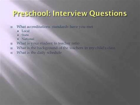 preschool 6 questions for your preschool