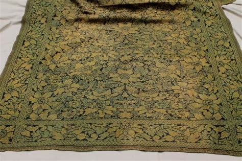 turning carpet into a rug antique woven cotton tapestry carpet table cover rug turn of the century vintage